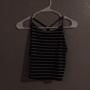 Tops - Black and white crop top